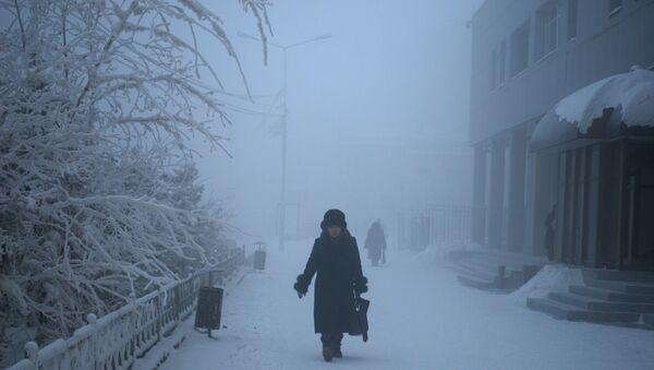 Сильные морозы в Якутске - Sputnik Mundo