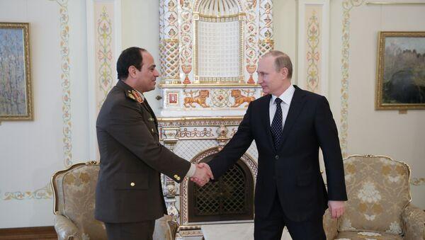 Presidente de Egipto, Abdelfatah al Sisi y presidente de Rusia, Vladímir Putin (Archivo) - Sputnik Mundo