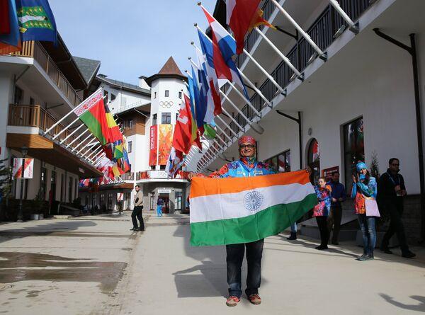 La bandera hindú flamea desde hoy en los Juegos de Sochi - Sputnik Mundo
