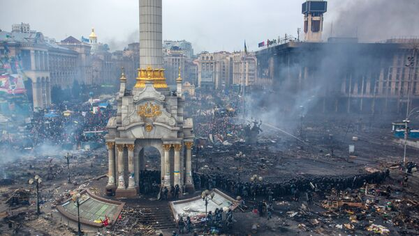 Plaza de la Independencia (Kiev), 19 febrero, 2014 - Sputnik Mundo