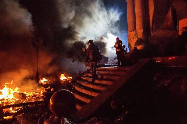 Violentes émeutes à Kiev et à Lvov - Sputnik Mundo