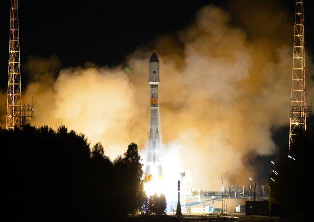 Lanzamiento del cohete Soyuz 2.1b (Archivo)
