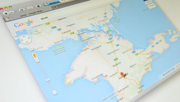 Crimea en el mapa de Google - Sputnik Mundo