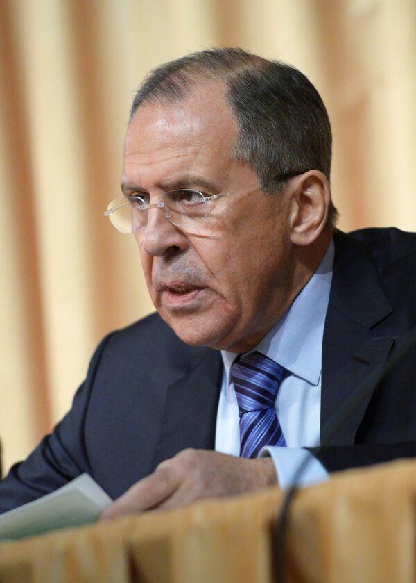 Ministro de Asuntos Exteriores de Rusia, Serguéi Lavrov - Sputnik Mundo