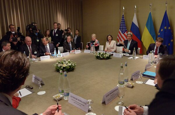 La reunión de Ginebra esboza los pasos para la distensión en Ucrania - Sputnik Mundo