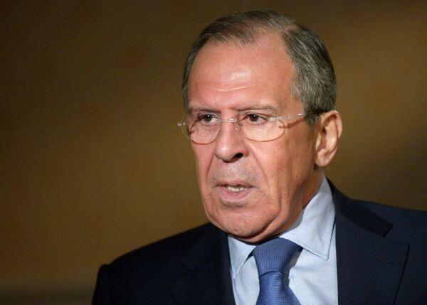 El ministro de Exteriores ruso Serguéi Lavrov - Sputnik Mundo
