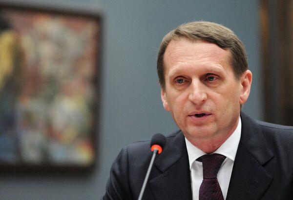 El presidente de la Duma de Estado, Serguéi Narishkin - Sputnik Mundo