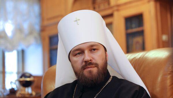 El jefe del Departamento de Vínculos Eclesiásticos Exteriores del Patriarcado de Moscú, metropolita Ilarión - Sputnik Mundo