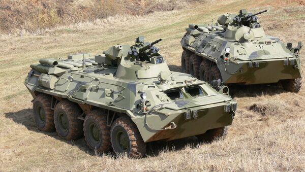 Transportes blindados BTR-82 - Sputnik Mundo