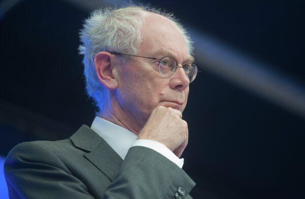 el presidente del Consejo Europeo Herman van Rompuy - Sputnik Mundo