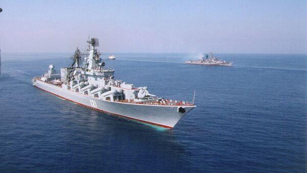 Crucero lanzamisiles Moskvá - Sputnik Mundo