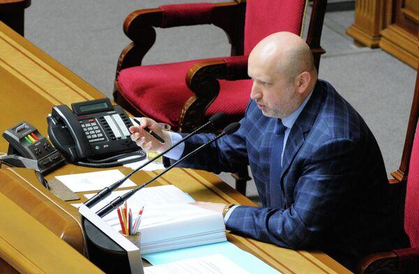 El presidente interino de Ucrania, Alexandr Turchínov - Sputnik Mundo
