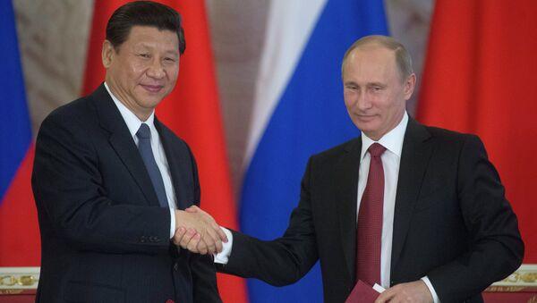 Presidente de la República Popular China, Xi Jinping y presidente de Rusia, Vladímir Putin (Archivo) - Sputnik Mundo
