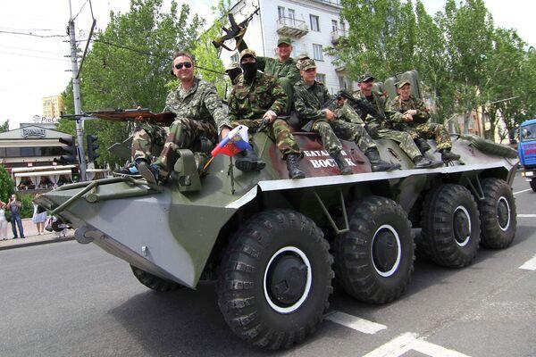 Miembros del Batallón Vostok en Donetsk - Sputnik Mundo