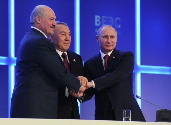 La crisis ucraniana no ha afectado la unión con Bielorrusia y Kazajstán - Sputnik Mundo