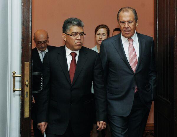 Elías Jaua, Serguéi Lavrov - Sputnik Mundo