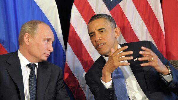 Barack Obama (dcha.) y Vladímir Putin - Sputnik Mundo