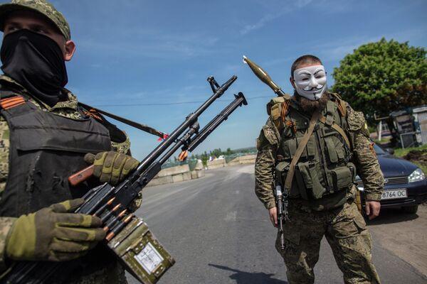Los partidarios de la federalización de Ucrania en Slaviansk - Sputnik Mundo