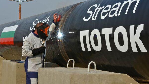 La construcción del gasoducto South Stream (archivo) - Sputnik Mundo