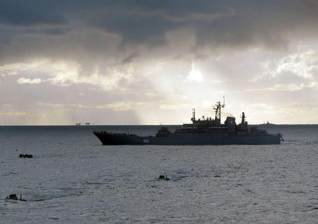 Georgy Pobedonosets, buque de desembarco del proyecto 775 (Ropucha en el sistema de catalogación de la OTAN)