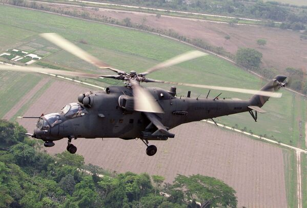 Helicópteros rusos de combate - Sputnik Mundo