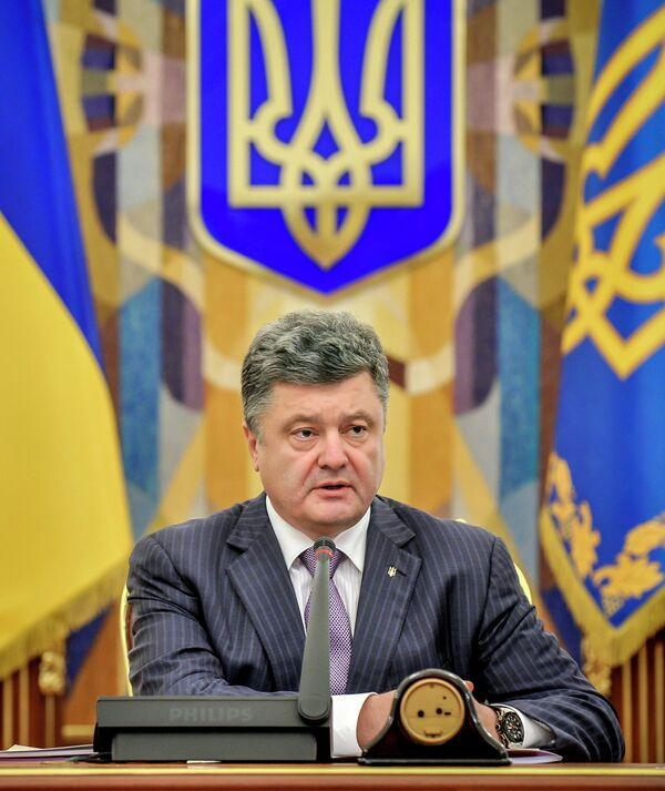El presidente de Ucrania, Piotr Poroshenko - Sputnik Mundo