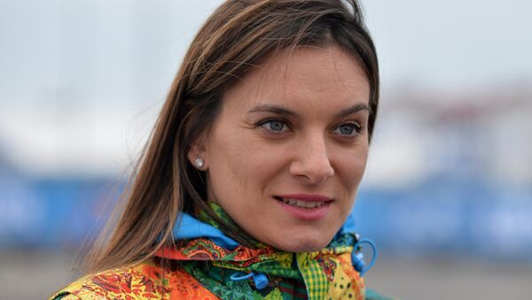 Elena Isinbáyeva, doble campeona olímpica rusa en saltos con pértiga - Sputnik Mundo