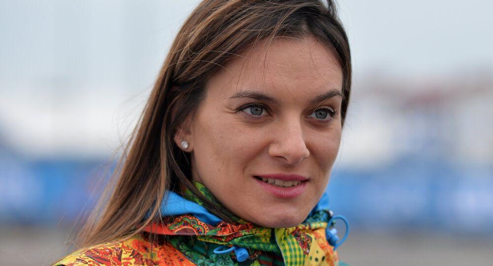 Elena Isinbáyeva, doble campeona olímpica rusa en saltos con pértiga