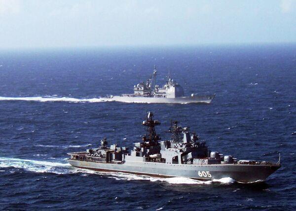 El buque antisubmarino Almirante Lévchenko - Sputnik Mundo