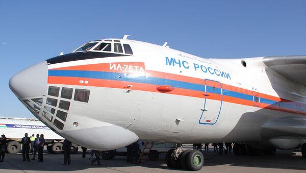 Avión Il-76 del Ministerio de Emergencia de Rusia - Sputnik Mundo
