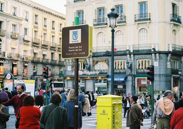 Gente en Madrid