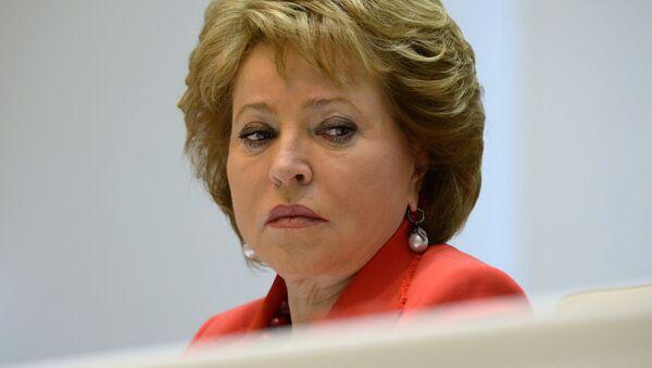 Valentina Matvienko, presidenta del Senado de Rusia - Sputnik Mundo