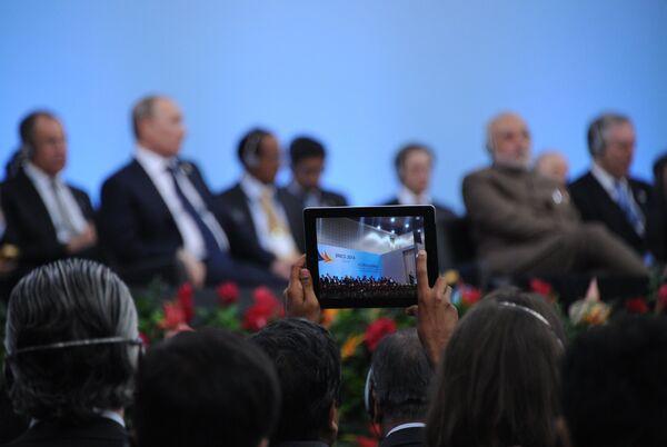 Сumbre de los BRICS (Brasil, Rusia, India, China y Sudáfrica) en Fortaleza, Brasil - Sputnik Mundo