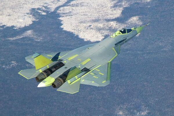 Avión T-50 PAK FA (Futuro sistema de aviación de primera línea). - Sputnik Mundo