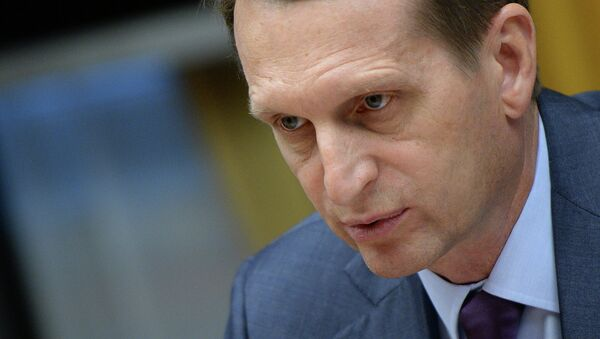 Serguéi Narishkin, presidente de la Duma de Estado de Rusia - Sputnik Mundo