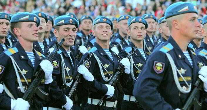 /rayas azules de manga larga Camiseta Telnyashka del paracaidista militar ruso