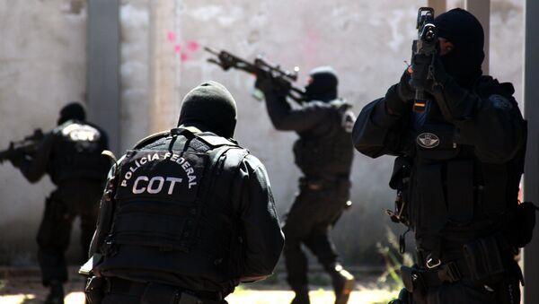 Policía Federal de Brasil. Comando de Operaciones Tácticas (COT) - Sputnik Mundo