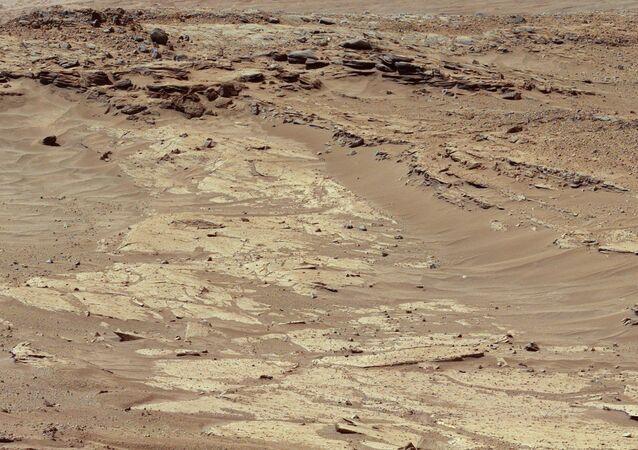 Una imagen de Marte tomada por Curiosity