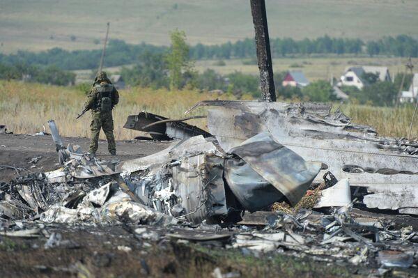 Los restos del avión malasio derribado en el este de Ucrania - Sputnik Mundo