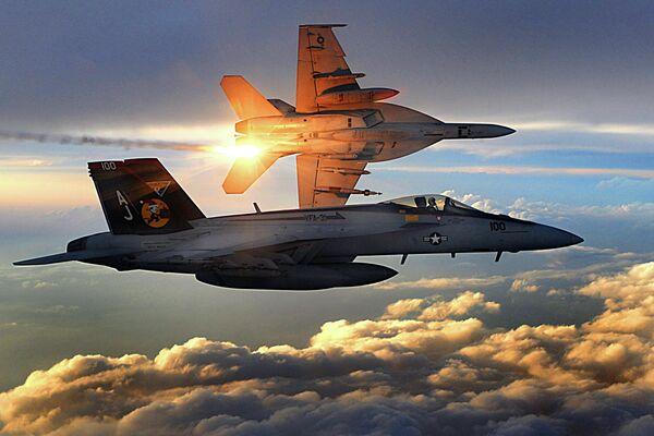 Cazas F/A-18 (Archivo) - Sputnik Mundo