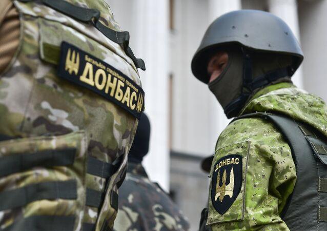 Efectivos del batallón Donbás