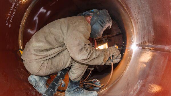 La construcción del gasoducto Fuerza de Siberia (archivo) - Sputnik Mundo