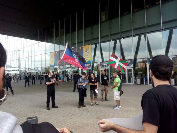 Manifestación a favor de los rusos de Donbás en el País Vasco - Sputnik Mundo