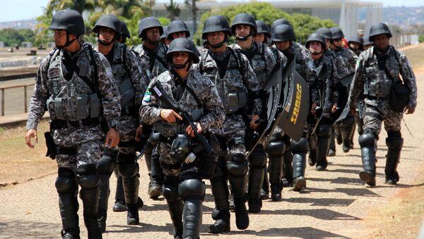 Policía Militar de Brasil - Sputnik Mundo