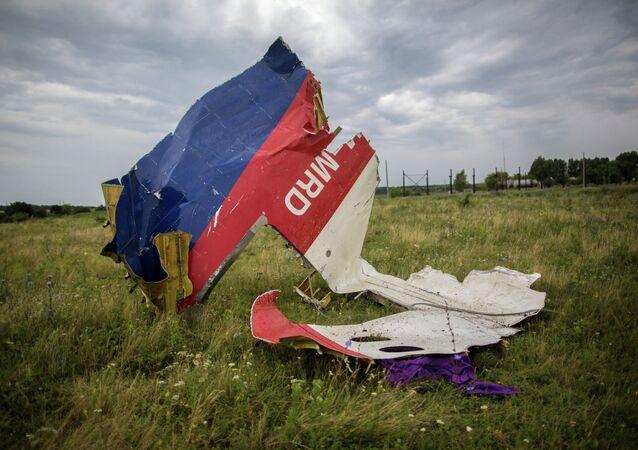 Los restos del Boeing 777 malasio derribado en Donbás