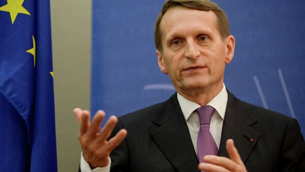 Serguéi Narishkin, presidente de la Duma estatal de Rusia - Sputnik Mundo