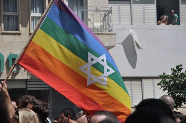 Homosexuales israelíes exigen igualdad de derechos en el día del  Orgullo Gay - Sputnik Mundo