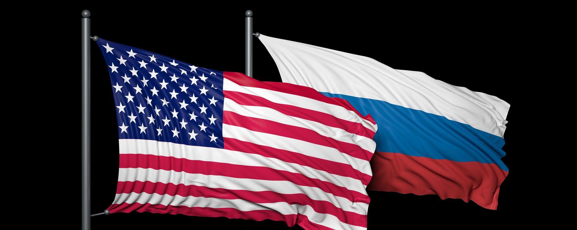 Banderas de EEUU y de Rusia  - Sputnik Mundo, 1920, 13.04.2021