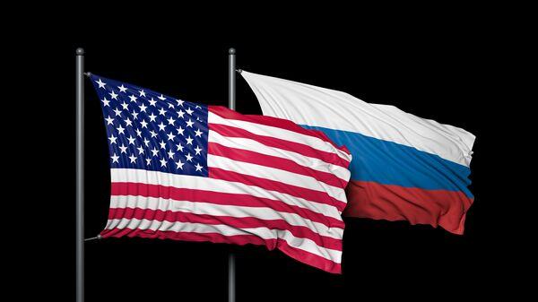 Banderas de EEUU y de Rusia - Sputnik Mundo