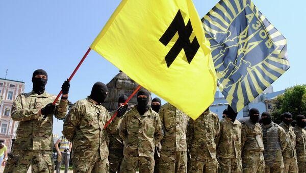 Combatientes del batallón Azov - Sputnik Mundo